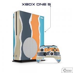 Skin Game Adesiva XBOX ONE S Cool Stripes Adesivo Vinil Americano 10µ  4x0 Brilho Corte Eletrônico
