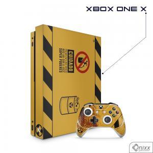 Skin Game Adesiva XBOX ONE X Não Pule no Lixo Radioativo Adesivo Vinil Americano 10µ  4x0 Brilho Corte Eletrônico
