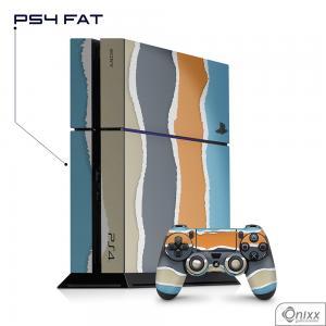 Skin Game Adesiva PS4 FAT Cool Stripes Adesivo Vinil Americano 10µ  4x0 Brilho Corte Eletrônico