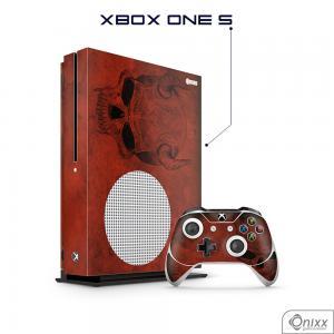 Skin Game Adesiva XBOX ONE S Evil Skull Adesivo Vinil Americano 10µ  4x0 Brilho Corte Eletrônico