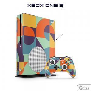 Skin Game Adesiva XBOX ONE S Color Pop Adesivo Vinil Americano 10µ  4x0 Brilho Corte Eletrônico