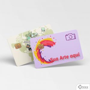 Card Skin Personalizado Adesivo Vinílico 0,10 8,5x5,4cm 4x0 / Impressão Digital Laminação Fosca Corte Contorno