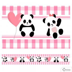 Faixa Decorativa Panda Adesivo Vinílico 0,10  4x0 / Látex Fosco corte Reto
