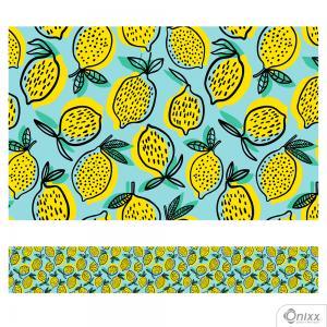 Faixa Decorativa Limão Adesivo Vinílico 0,10  4x0 / Látex Fosco corte Reto