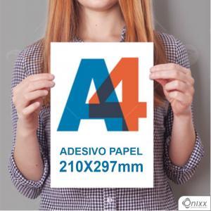 Impressão A4 adesivo papel Adesivo Papel Fosco 180gramas 297x210mm 4/0 / impressão Offset Digital  Padrão