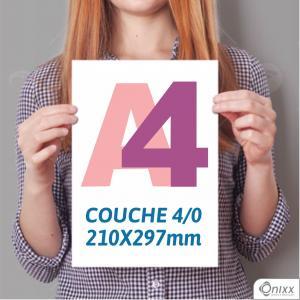 Impressão Couché A4 | 4/0 Papel Couché Fosco 210X297mm 4/0 / impressão Offset Digital  Padrão