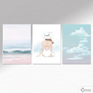 Kit De Placas Decorativas Beach A4 MDF 3mm 30X20CM 4x0 Adesivo Fosco Corte Reto Fita Dupla Face 3M