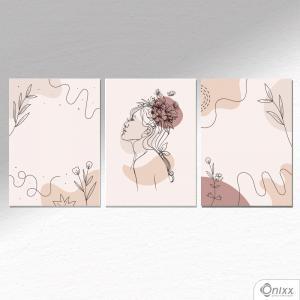 Kit De Placas Decorativas Beauty Flowers A4 MDF 3mm 30X20CM 4x0 Adesivo Fosco Corte Reto Fita Dupla Face 3M
