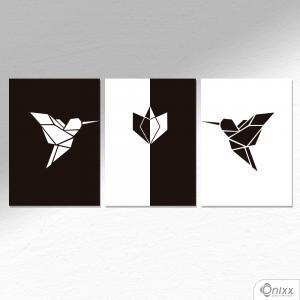 Kit De Placas Decorativas Beija Flor A4 MDF 3mm 30X20CM 4x0 Adesivo Fosco Corte Reto Fita Dupla Face 3M
