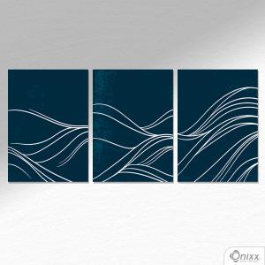 Kit De Placas Decorativas Blue Wave A4 MDF 3mm 30X20CM 4x0 Adesivo Fosco Corte Reto Fita Dupla Face 3M