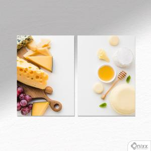 Kit De Placas Decorativas Cheese A4
