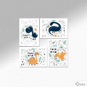 Kit De Placas Decorativas Dino Ilustrado A4