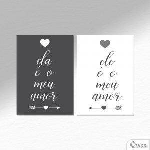 Kit De Placas Decorativas Ela E Ele A4