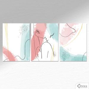 Kit De Placas Decorativas Expressão Feminina A4 MDF 3mm 30X20CM 4x0 Adesivo Fosco Corte Reto Fita Dupla Face 3M