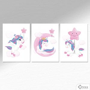 Kit De Placas Decorativas Fly Unicorn A4