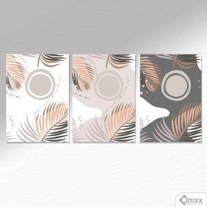 Kit De Placas Decorativas Folhagem Neutra A4 MDF 3mm 30X20CM 4x0 Adesivo Fosco Corte Reto Fita Dupla Face 3M