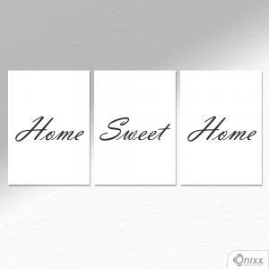 Kit De Placas Decorativas Home Sweet Home A4 MDF 3mm 30X20CM 4x0 Adesivo Fosco Corte Reto Fita Dupla Face 3M