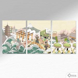 Kit De Placas Decorativas Japan A4 MDF 3mm 30X20CM 4x0 Adesivo Fosco Corte Reto Fita Dupla Face 3M