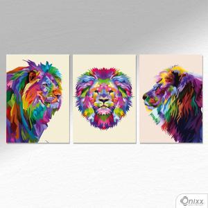 Kit De Placas Decorativas Lions A4 MDF 3mm 30X20CM 4x0 Adesivo Fosco Corte Reto Fita Dupla Face 3M