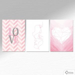 Kit De Placas Decorativas Love A4
