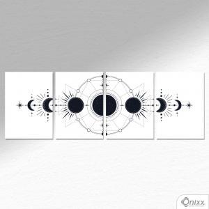 Kit De Placas Decorativas Lunar A4 MDF 3mm 30X20CM 4x0 Adesivo Fosco Corte Reto Fita Dupla Face 3M