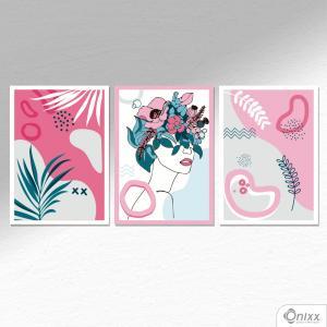 Kit De Placas Decorativas Natureza Feminina A4