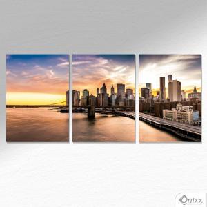 Kit De Placas Decorativas Ponte De Manhattan A4 MDF 3mm 30X20CM 4x0 Adesivo Fosco Corte Reto Fita Dupla Face 3M