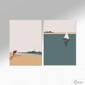 Kit De Placas Decorativas Summer Beach A4