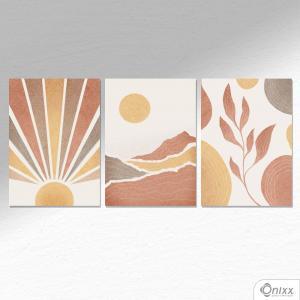 Kit De Placas Decorativas Terrosos A4 MDF 3mm 30X20CM 4x0 Adesivo Fosco Corte Reto Fita Dupla Face 3M