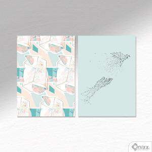 Kit De Placas Decorativas Tsuru Fly A4 MDF 3mm 30X20CM 4x0 Adesivo Fosco Corte Reto Fita Dupla Face 3M
