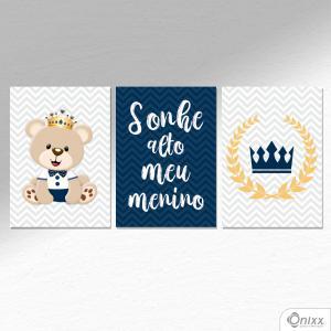 Kit De Placas Decorativas Ursinho Príncipe A4