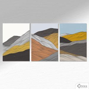 Kit De Placas Decorativas Waves A4 MDF 3mm 30X20CM 4x0 Adesivo Fosco Corte Reto Fita Dupla Face 3M