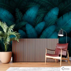 Painel Adesivo Folhagem Tropical Adesivo Vinílico 0,10 Sob medida 4x0 / Impressão Digital Fosco Divididos em Rolos de 50cm