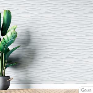 Papel de Parede Adesivo 3D Ondas Adesivo Vinílico 0,10 58x300cm 4x0 / Impressão Digital Látex Fosco Divididos em Rolos de 44cm