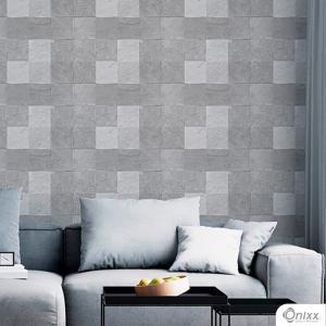 Papel de Parede Adesivo Pedra Tons De Cinza Adesivo Vinílico 0,10 58x300cm 4x0 / Impressão Digital Látex Fosco Divididos em Rolos de 58cm