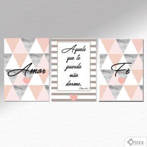 Kit De Placas Decorativas Amor e Fé A4