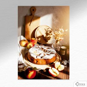 Placa Decorativa Apple Pie A4 MDF 3mm 30X20CM 4x0 Adesivo Fosco Corte Reto Fita Dupla Face 3M