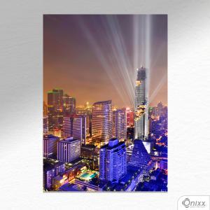 Placa Decorativa Bankok Modern Buildings A4 MDF 3mm 30X20CM 4x0 Adesivo Fosco Corte Reto Fita Dupla Face 3M