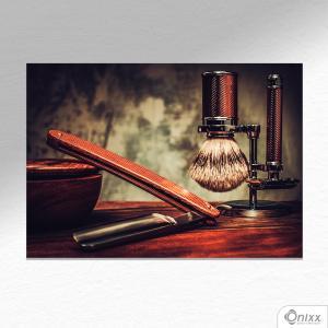 Placa Decorativa Barber Old A4 MDF 3mm 30X20CM 4x0 Adesivo Fosco Corte Reto Fita Dupla Face 3M
