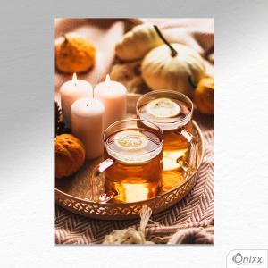 Placa Decorativa Beauty Tea A4 MDF 3mm 30X20CM 4x0 Adesivo Fosco Corte Reto Fita Dupla Face 3M