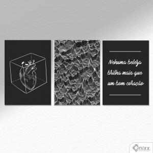 Kit De Placas Decorativas Beleza Que Brilha A4 MDF 3mm 30X20CM 4x0 Adesivo Fosco Corte Reto Fita Dupla Face 3M