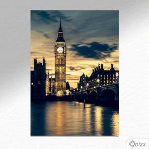 Placa Decorativa Big Ben PB A4 MDF 3mm 30X20CM 4x0 Adesivo Fosco Corte Reto Fita Dupla Face 3M