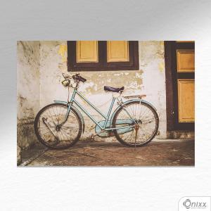 Placa Decorativa Bike Old Wall A4 MDF 3mm 30X20CM 4x0 Adesivo Fosco Corte Reto Fita Dupla Face 3M