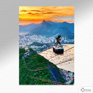 Placa Decorativa Bondinho Em Passeio A4 MDF 3mm 30X20CM 4x0 Adesivo Fosco Corte Reto Fita Dupla Face 3M