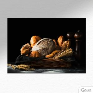 Placa Decorativa Bread And Black Theme A4 MDF 3mm 30X20CM 4x0 Adesivo Fosco Corte Reto Fita Dupla Face 3M
