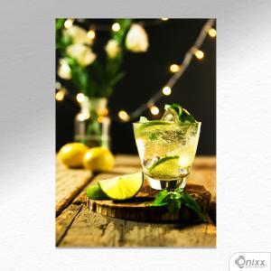Placa Decorativa Caipirinha  A4 MDF 3mm 30X20CM 4x0 Adesivo Fosco Corte Reto Fita Dupla Face 3M