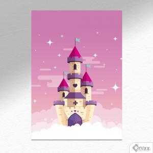 Placa Decorativa Castelo Encantado A4 MDF 3mm 30X20CM 4x0 Adesivo Fosco Corte Reto Fita Dupla Face 3M