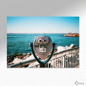 Placa Decorativa Coin Binoculars A4 MDF 3mm 30X20CM 4x0 Adesivo Fosco Corte Reto Fita Dupla Face 3M