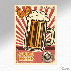 Placa Decorativa Cold Beer A4 MDF 3mm 30X20CM 4x0 Adesivo Fosco Corte Reto Fita Dupla Face 3M