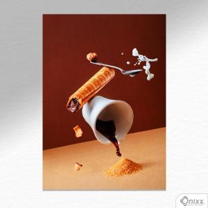 Placa Decorativa Cool Coffee A4 MDF 3mm 30X20CM 4x0 Adesivo Fosco Corte Reto Fita Dupla Face 3M
